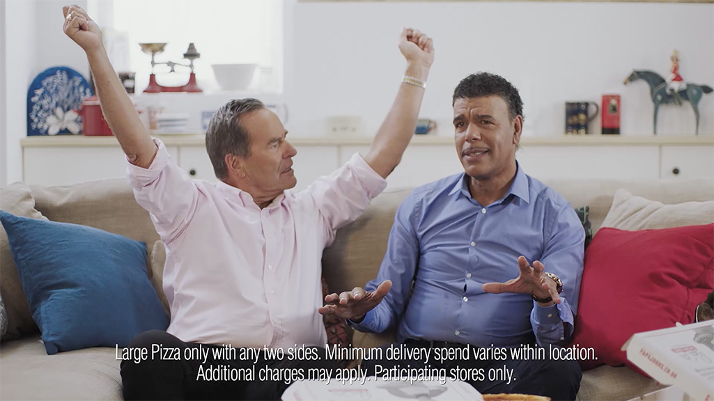 Video Production in Leeds for Papa John's Pizza with Chris Kamara and Jeff Stelling.